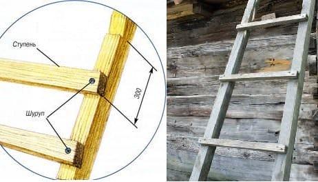 Деревянная лестница для улицы своими руками