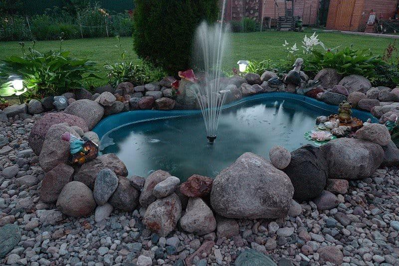 Сделать садовый фонтан своими руками 19