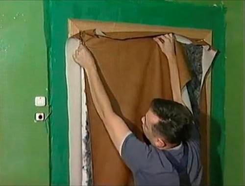 Как обить двери дермантином своими руками 94