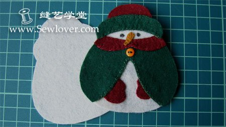 Сніговик – ялинкові іграшки з фетру, майстерклас в картинках