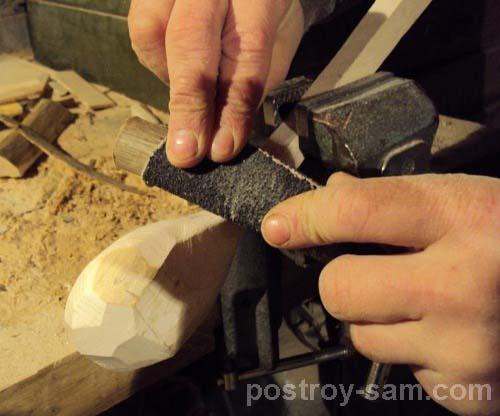 Как сделать толкушку из дерева своими руками видео