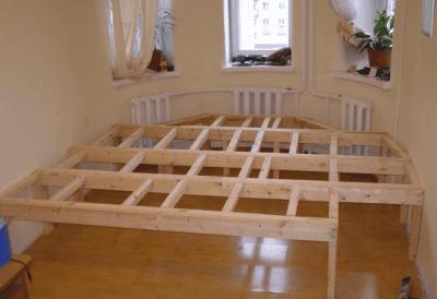 Кровать своими руками под подиумом 44