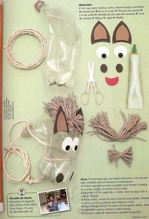 Конячка – виріб із пластикової пляшки, для дітей
