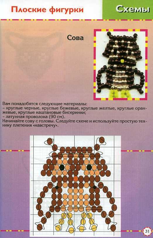 Поделки из бисера для со схемами