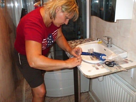 Как сделать столешница для мойки своими руками