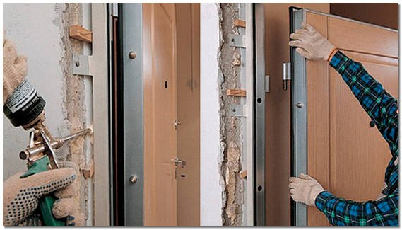 Монтаж входных металлических дверей своими руками 10