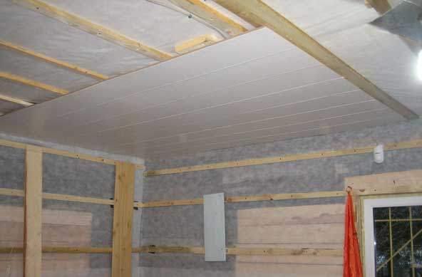 Как сделать потолок из дсп своими руками пошаговая инструкция