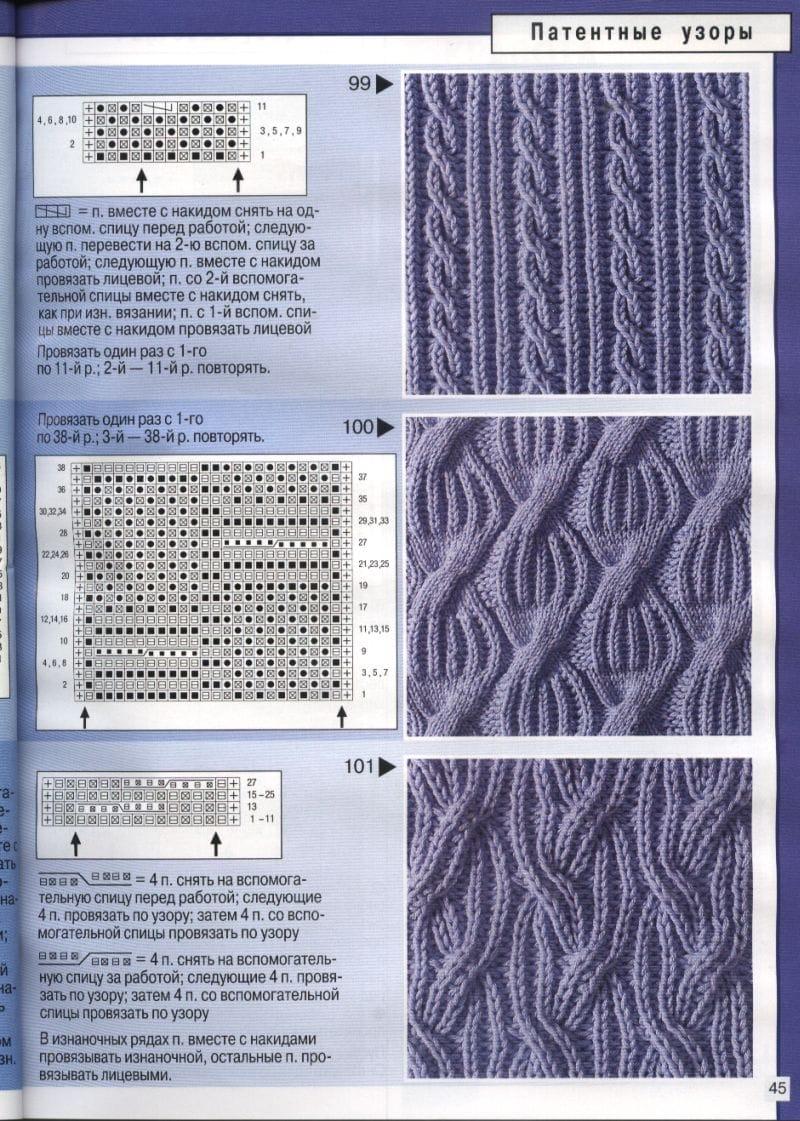 Вязание узоры и схемы спицами скачать бесплатно
