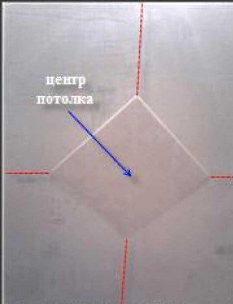 Наклейка потолочной плитки своими руками по диагонали 73
