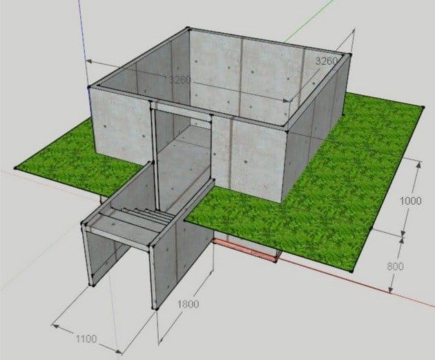 Внешний дизайн погреб в частном доме своими руками