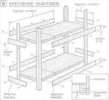 Простая двухъярусная кровать своими руками чертеж 74