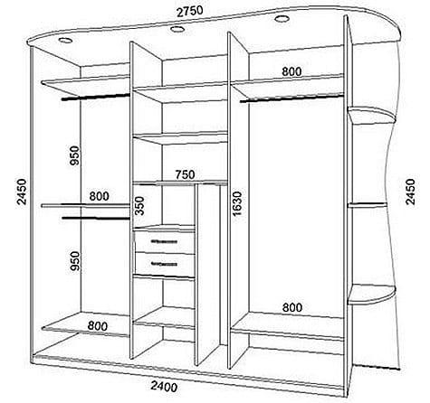 Схемы шкафов купе своими руками