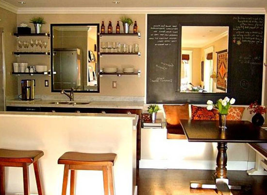 Расположение барной стойки на кухне