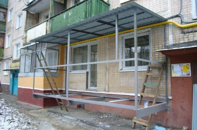 Балкон своими руками строить 102