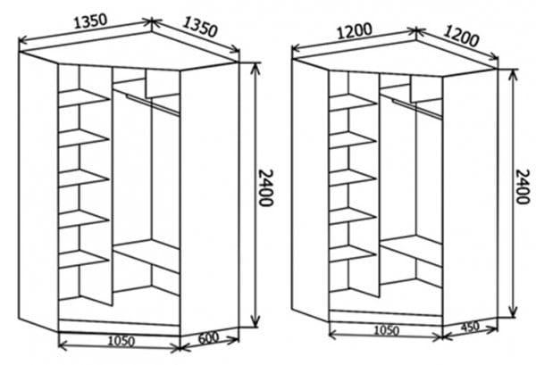 Встроенный угловой шкаф своими руками чертежи и схемы 21