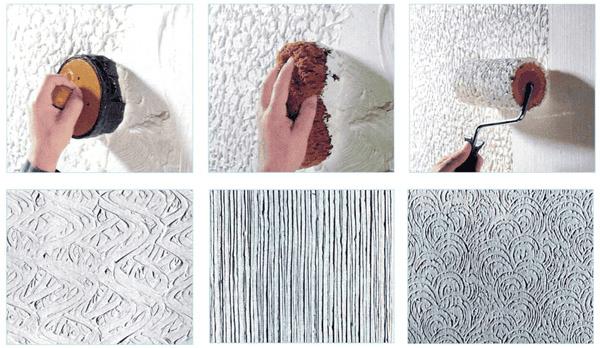 Рельефные узоры на стенах своими руками 41