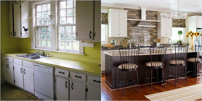 Ремонт своими руками кухни фото до и после