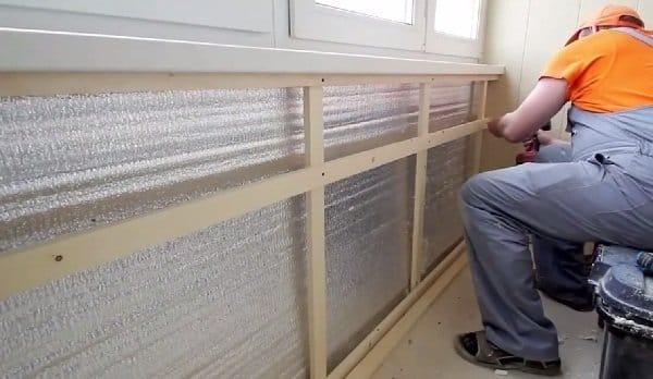 Утепление балкон обшивка своими руками 73