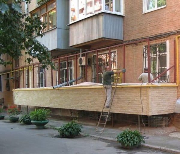 Как сделать балкон у построенного дома.