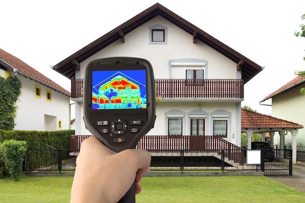 Обследовании домов тепловизором