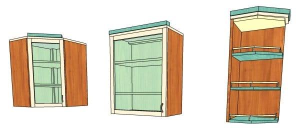 Навесной шкаф на кухню своими руками 16