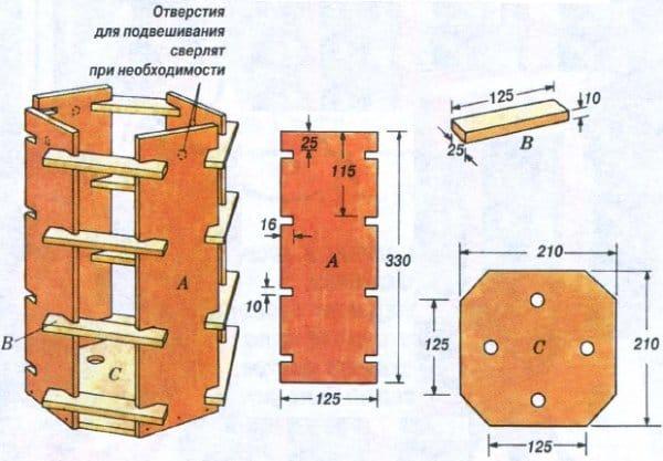 Деревянный ящик для цветов своими руками чертежи