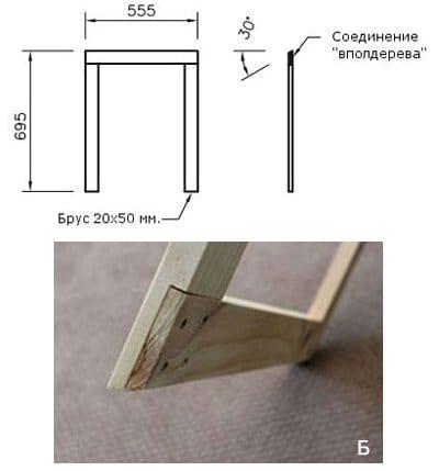 Массажный стол своими руками из металла чертежи 50