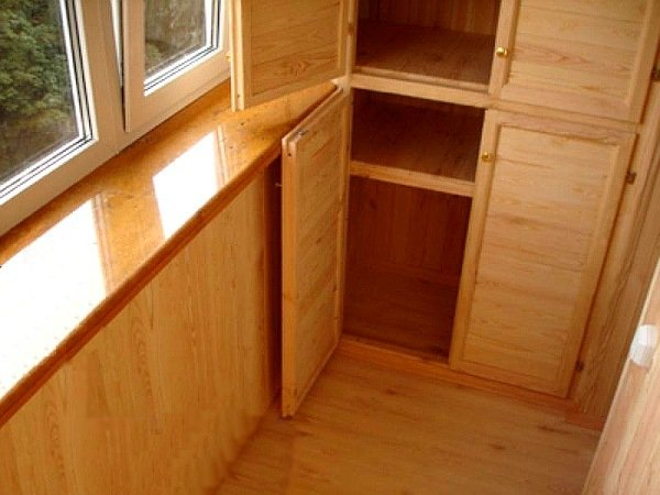 Встроенный шкаф своими руками на лоджии 971