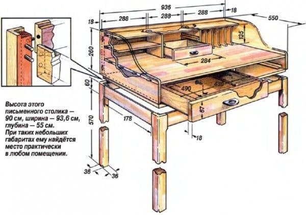 Стол для инструментов своими руками чертежи 84