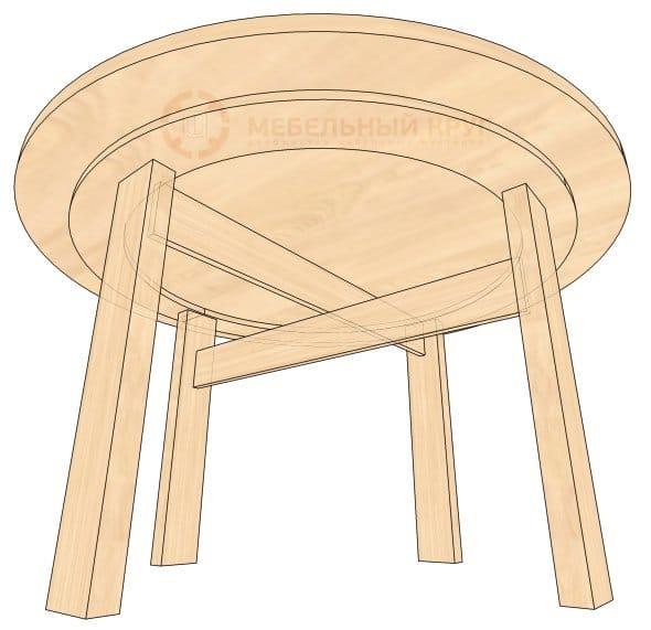 Сделать круглый стол своими руками