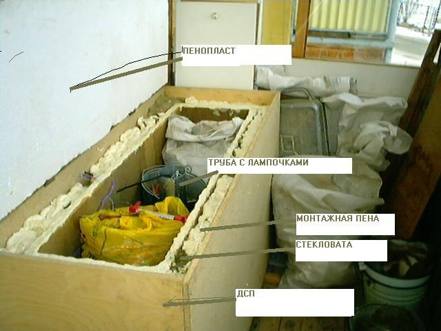 Хранение овощей на балконе зимой своими руками