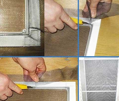 Как сделать москитную сетку для пластиковых окон 153
