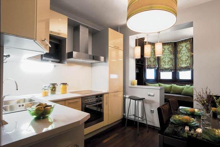 Фото дизайнерских идей совмещенной кухни