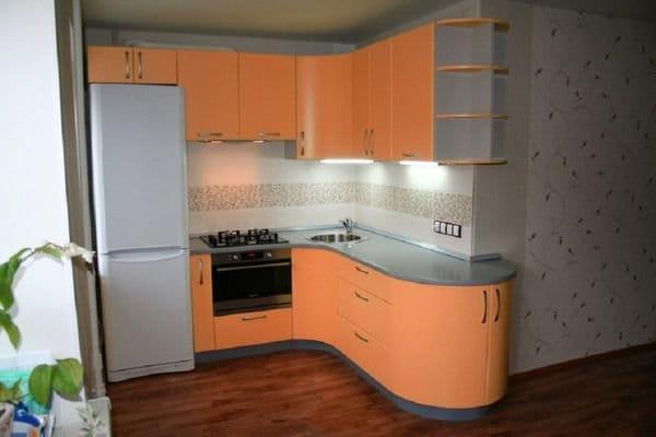 Дизайн кухонного гарнитура в брежневка