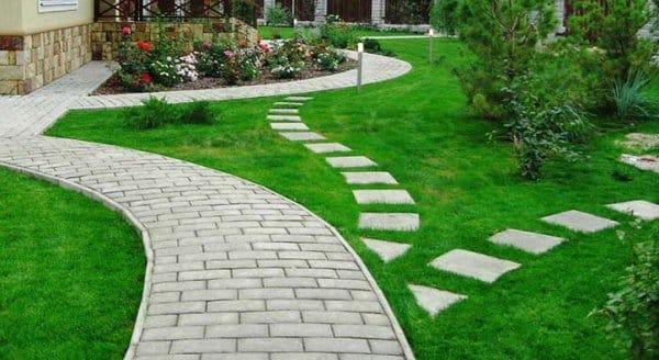 Садовые дорожки из плитки фото