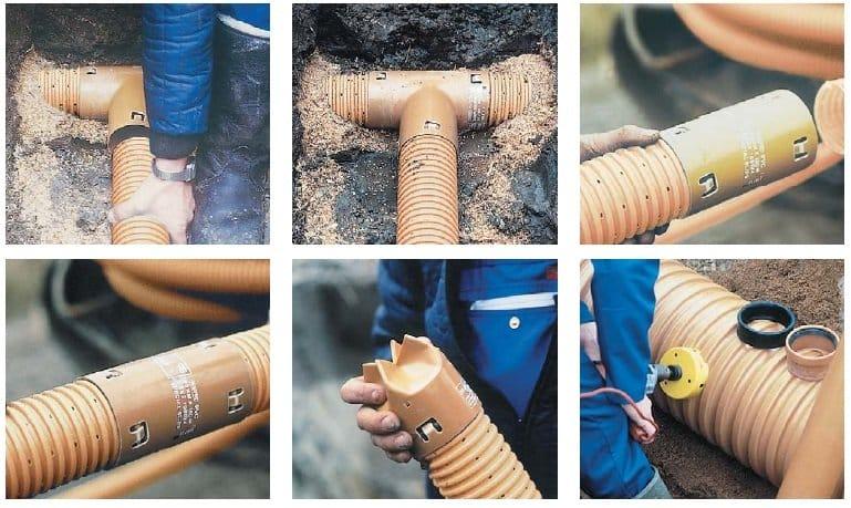 Установка дренажных труб своими руками