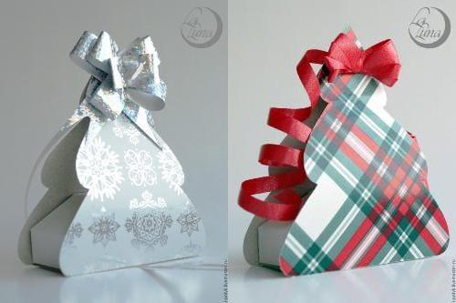 Как упаковать елку в подарок 53