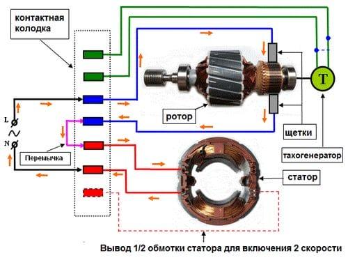 Электрическая схема пуска электродвигателя фото 403