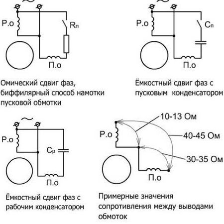 схема подключения 3х фазного двигателя станка детского сада