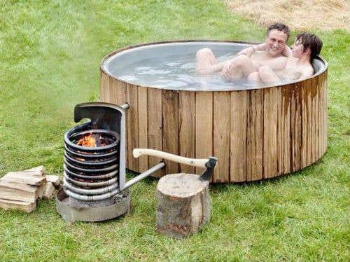 Печка для летнего душа своими руками