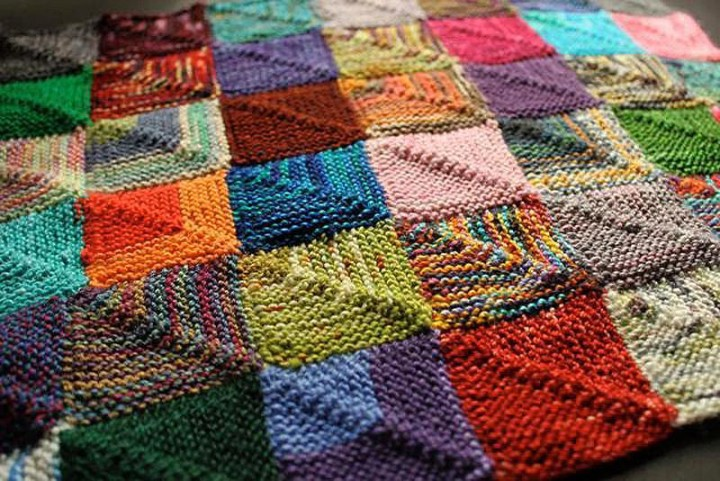 разноцветное вязание в технике энтерлак мастер классывидео