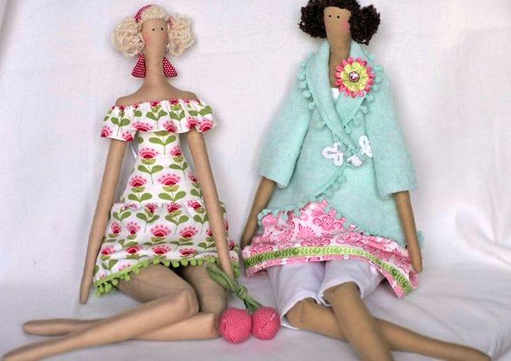 Куклы своими руками из ткани тильды