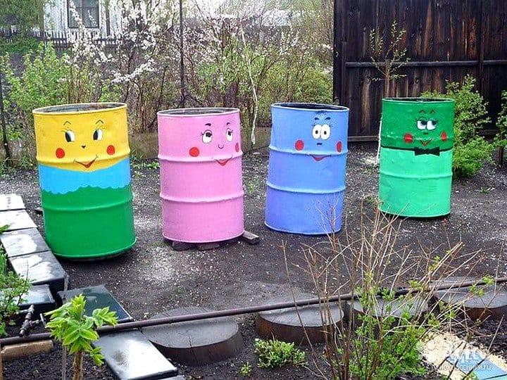 Поделки из бочек своими руками для сада и огорода фото 60