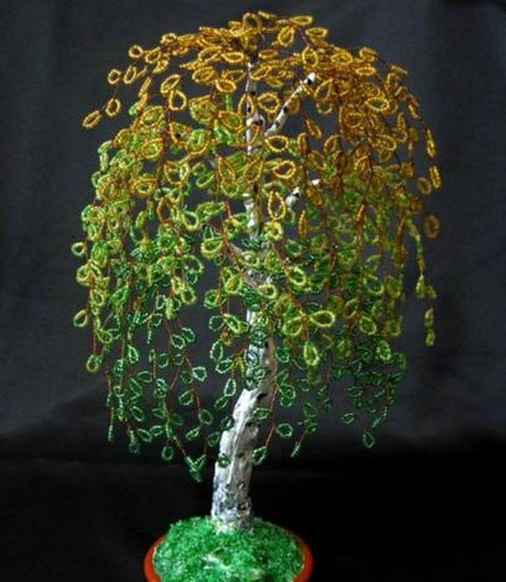 Деревья из бисера своими руками