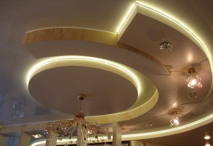Гіпсокартонні стелі: фото та ідеї