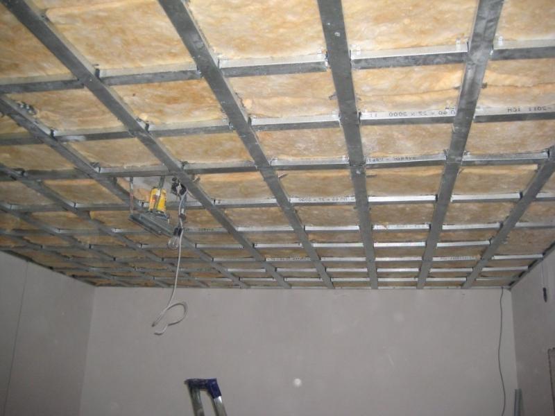 Как сделать обрешетку на потолке под гипсокартон
