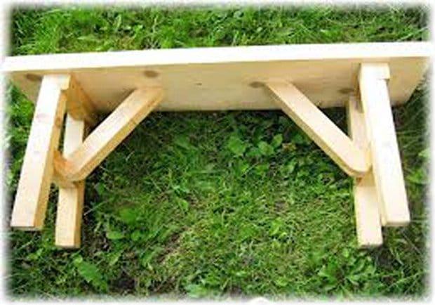 Сделать скамейку без спинки своими руками 385