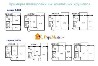 Схемы планировок панельных пятиэтажек