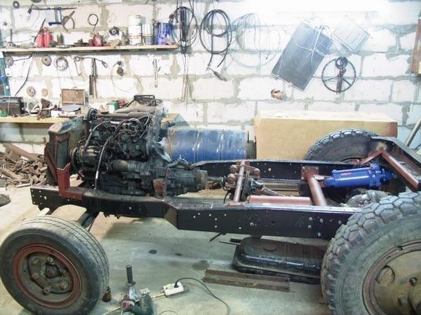 Как сделать трактор своими руками из газ 53 40