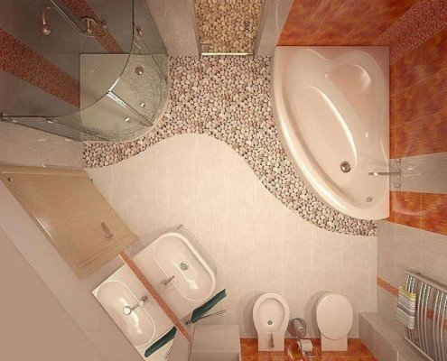 Помаранчева ванна кімната фото